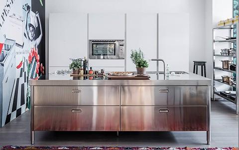 Edelstahl Küchen-Möbel