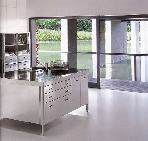 alpes inox k chen komplett in edelstahl. Black Bedroom Furniture Sets. Home Design Ideas