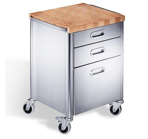 Edelstahl Rollcontainer für die Küche